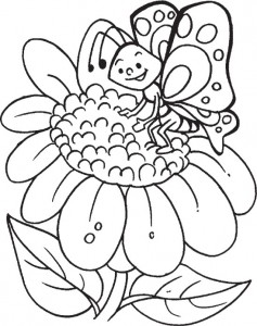 butterfly coloring for preschoolers (2)