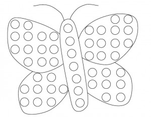 butterfly do a dot coloring page