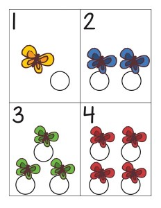 butterfly number cards for kıds