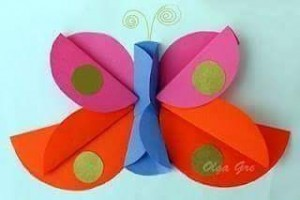 circle paper butterfly
