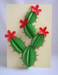 circle paper cactus
