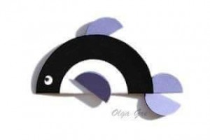circle paper dolphin
