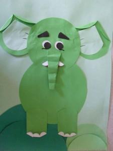 circle paper elephant
