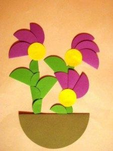 circle paper flowers
