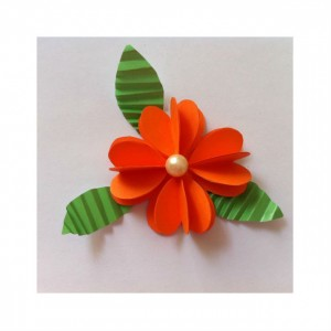 circle paper flowers for kıds