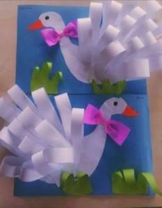 circle paper goose