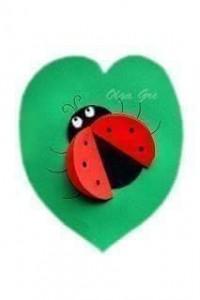 circle paper ladybug crafts