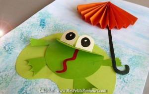 circle paper making frog