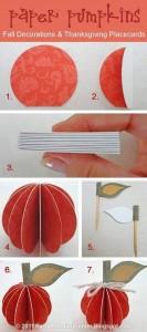 circle paper pumpkins