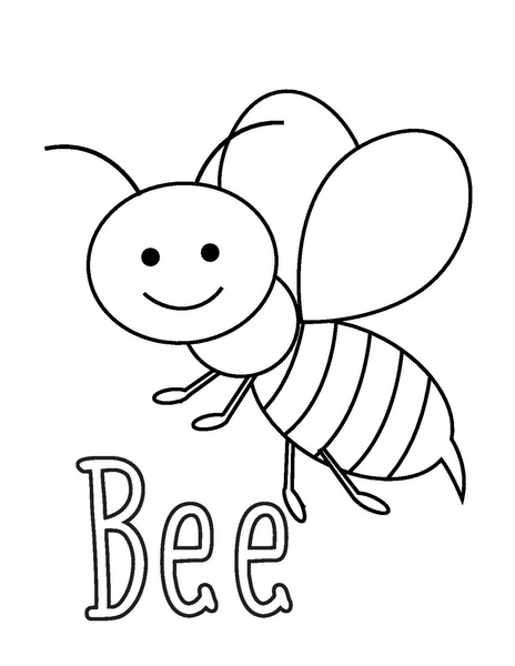 coloring pages bee  u00ab preschool and homeschool