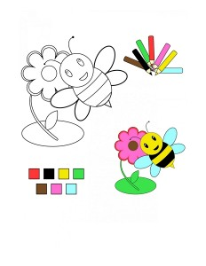coloring pages bee