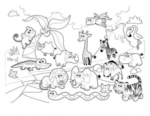 Coloring Pages Forest Animals