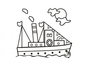 coloring pages ship