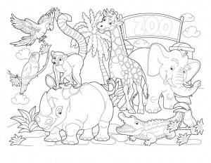 coloring pages zoo