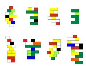 construction lego worksheets color