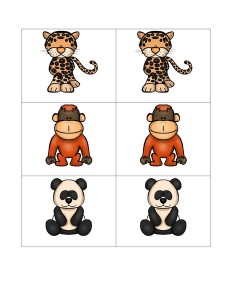 cool animals matching preschool