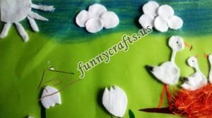 cotton pad cloud craft