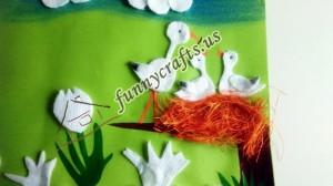 cotton pad tulip craft