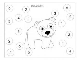 dice with polar bear