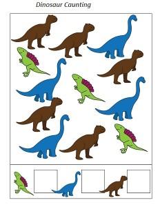 dinosaur caunting