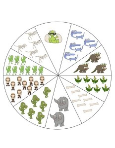 dinosaur number wheel
