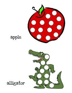 do a dot alphabet card
