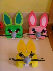 egg box craft rabbit