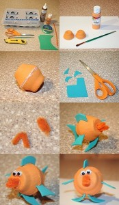 egg cartoon activities crafts fısh