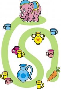 elephant animals labyrinth