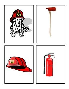 fire themed card