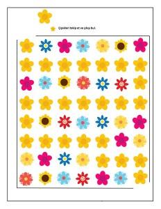 flowers maze activity