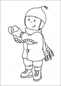 free caillou coloring