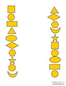 geometric shapes activities matching activities
