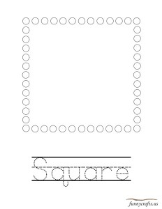 geometric shapes activities square