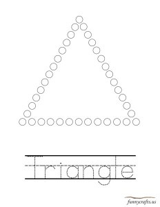 geometric shapes activities triangle