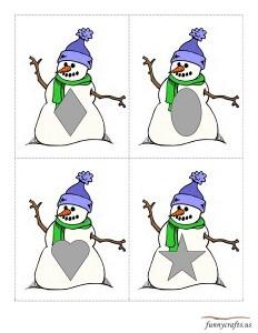 geometric shapes activities winter