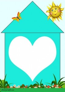home shapes matching heart