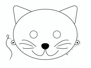 mask template cats