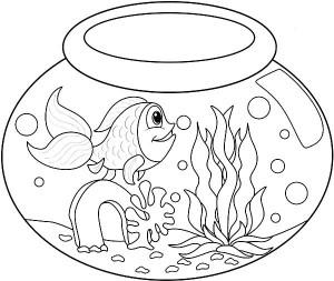 mini aquarium coloring pages