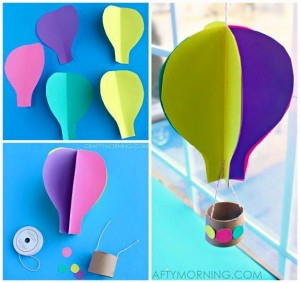 paper arts and crafts ballon
