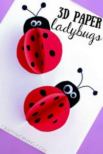 paper arts and crafts ladybug
