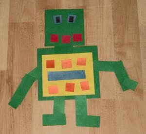 paper arts and crafts robot