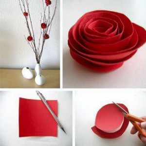 paper arts and crafts rose
