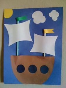 paper arts and crafts ship