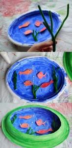paper plate aquarium crafts
