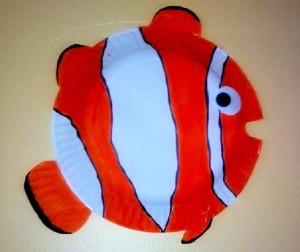 paper plate clownfısh crafts