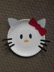 paper plate crafts cat