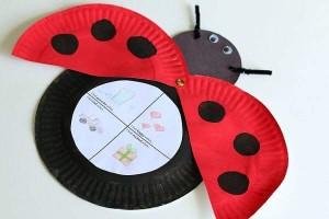 paper plate crafts ladybug