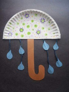 paper plate crafts umbrella