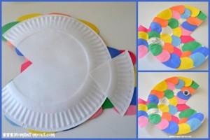 paper plate fısh crafts